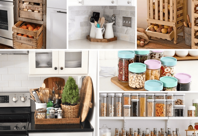 The idea of storage with recycled materials